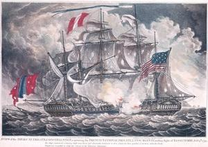 Us Frigate 'Constellation' Captures the 'L'Insurgente' in the West Indies at the Battle of Basseter
