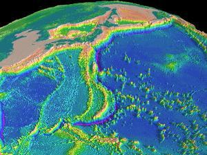 Mariana Trench Sea Floor Topography by us Geological Survey