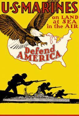 US Marines Defend America