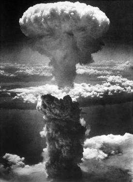 Atomic Burst Over Nagasaki, 1945 by us National Archives