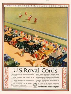 US Royal Cords, Magazine Advertisement, USA, 1924