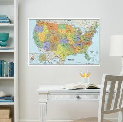 Affordable Map Wall Decals Posters For Sale At Allposters Com
