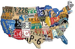 USA License Plate Steel Sign