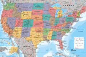 Maps of the united states posters at allposters usa map sciox Images