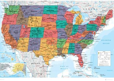 Picture Of Map Of America.Affordable Maps Of The United States Posters For Sale At Allposters Com