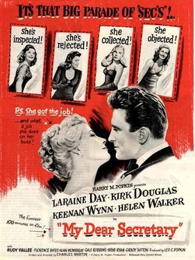 USA My Dear Secretary Film Poster, 1940s