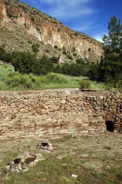 USA, Near Los Alamos, New Mexico, Bandelier National Monument, Big Kiva