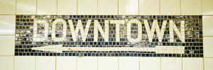 USA, New York City, Subway Sign