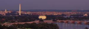 USA, Washington DC, Aerial, Night