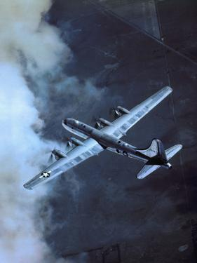 USAF B-29 Superfortress Bomber in Flight