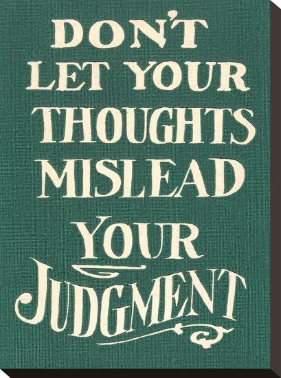 Use Judgment-Found Image Press-Stretched Canvas Print