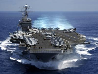 USS Carl Vinson in Indian Ocean During the Second Gulf War, Mar. 15, 2005