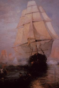 USS Constitution Escaping the British