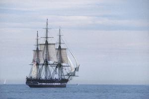 "USS Constitution ""Old Ironsides"" Under Sail, Massachusetts Bay, Celebrating Its Bicentennial, 1997"