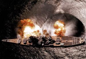 USS Iowa Battleship Firing Guns - Navy