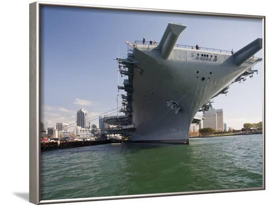 USS Midway Museum Ship in San Diego, California-Stocktrek Images-Framed Photographic Print