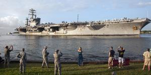 Uss Nimitz Arrives at Joint Base Pearl Harbor Hickam