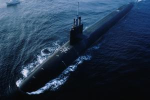 USS Ohio Submarine during Trials