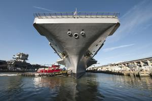Uss Theodore Roosevelt Pulls Out of Newport News Shipyard