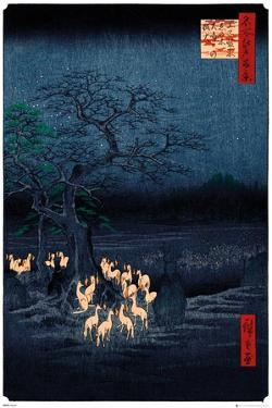 New years eve foxfire by Utagawa Hirosada