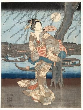 A Cool Summer Evening at Ryogoku, 1848-51 by Utagawa Hiroshige