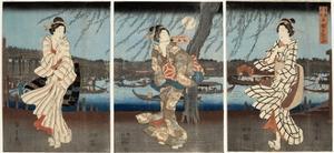 A Cool Summer Evening at Ryogoku, 1848-51 by Utagawa Hiroshige