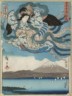 Ejiri, Published by Maru-Ya Kyushiro, C.1850 by Utagawa Hiroshige and Kunisada