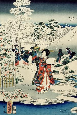 Maids in a Snow-Covered Garden, 1859