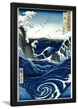 Utagawa Hiroshige (Awa Province: Stormy Sea at Naruto Rapids) Art Poster Print