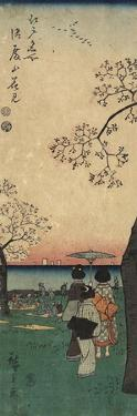 Cherry Blossom Viewing at Gotenyama, March 1852 by Utagawa Hiroshige