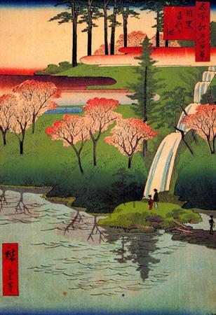 Utagawa Hiroshige Chiyogaike Pond River