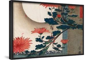 Utagawa Hiroshige Chrysanthemums Art Print Poster