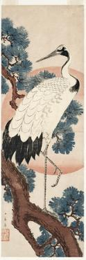 Crane in Pine Tree at Sunrise, 1850-55 by Utagawa Hiroshige