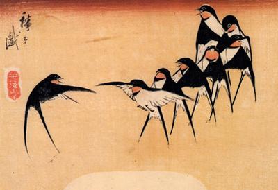 Utagawa Hiroshige Dancing Swallows