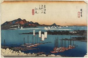 Distant View of Miho, Ejiri, C. 1833 by Utagawa Hiroshige