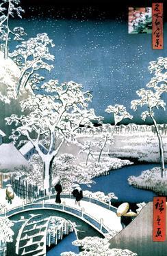 Utagawa Hiroshige (Drum Bridge at Meguro)