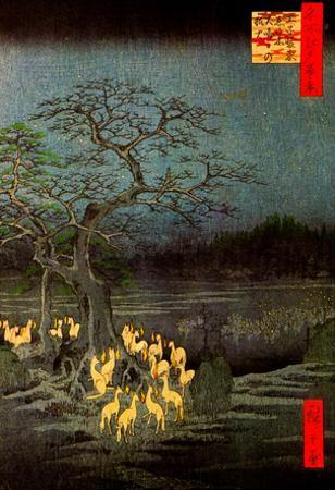 Utagawa Hiroshige Fire Foxes