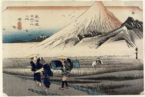 Fuji in the Morning, Hara, C. 1833 by Utagawa Hiroshige