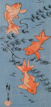 Goldfishes, 1843 by Utagawa Hiroshige