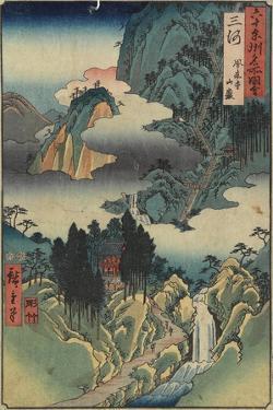 Horai-Ji Temple, Mikawa Province, August 1853 by Utagawa Hiroshige