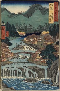 Hot Springs at Shuzenji, Izu Province, August 1853 by Utagawa Hiroshige