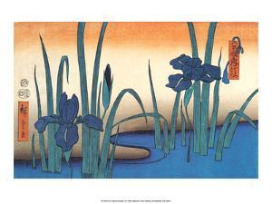 Irises by Utagawa Hiroshige