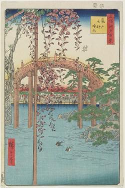 Kameido Tenjin Shrine, July 1856 by Utagawa Hiroshige