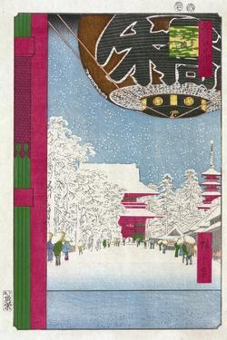 Kinryuzan Temple at Asakusa (One Hundred Famous Views of Ed), 1856-1858 by Utagawa Hiroshige