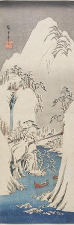 Kiso Gorge in Snow, C. 1840-1842 by Utagawa Hiroshige