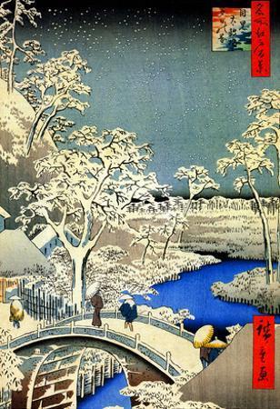 Utagawa Hiroshige Meguro Drum Bridge