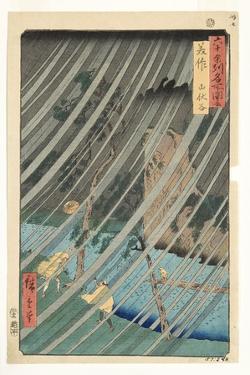 Mimasaka Province, Yamabushi Valley, 1853 by Utagawa Hiroshige