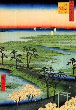 Utagawa Hiroshige Moto-Hachiman Shrine