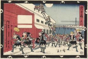 Night Attack, 1843-1847 by Utagawa Hiroshige