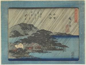 Night Rain at Karasaki by Utagawa Hiroshige